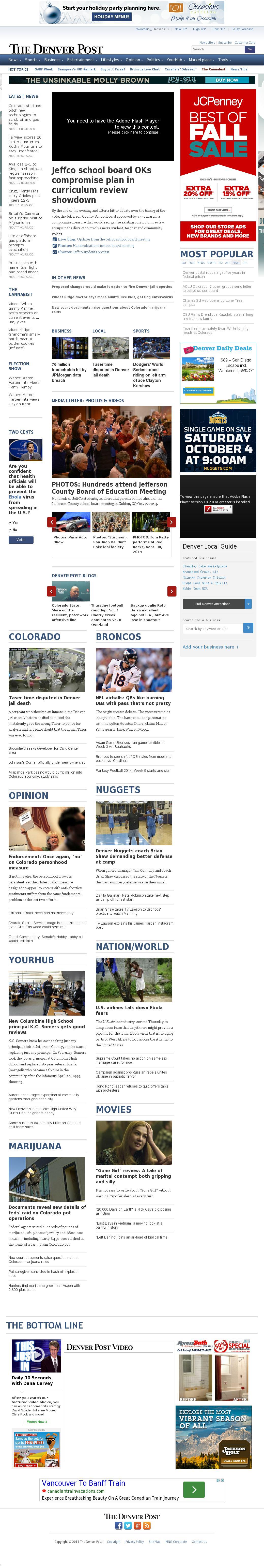 Denver Post at Friday Oct. 3, 2014, 8:02 a.m. UTC