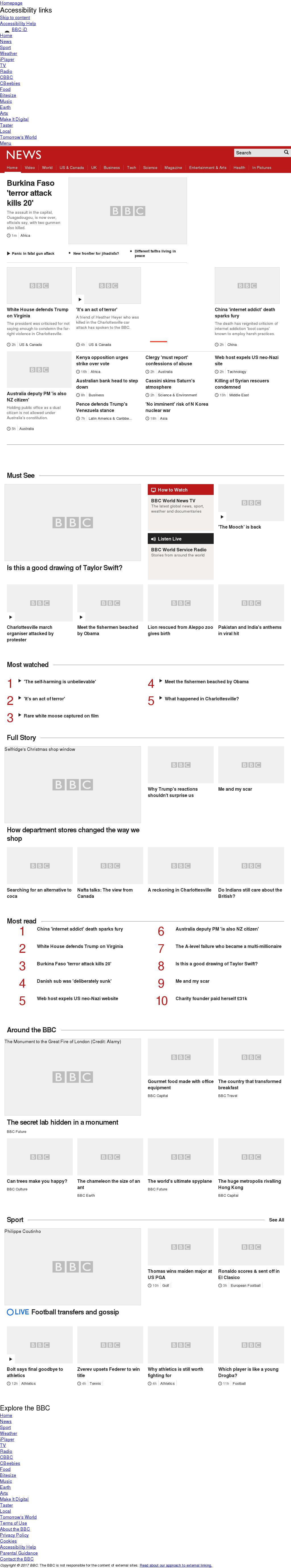 BBC at Monday Aug. 14, 2017, 10 a.m. UTC