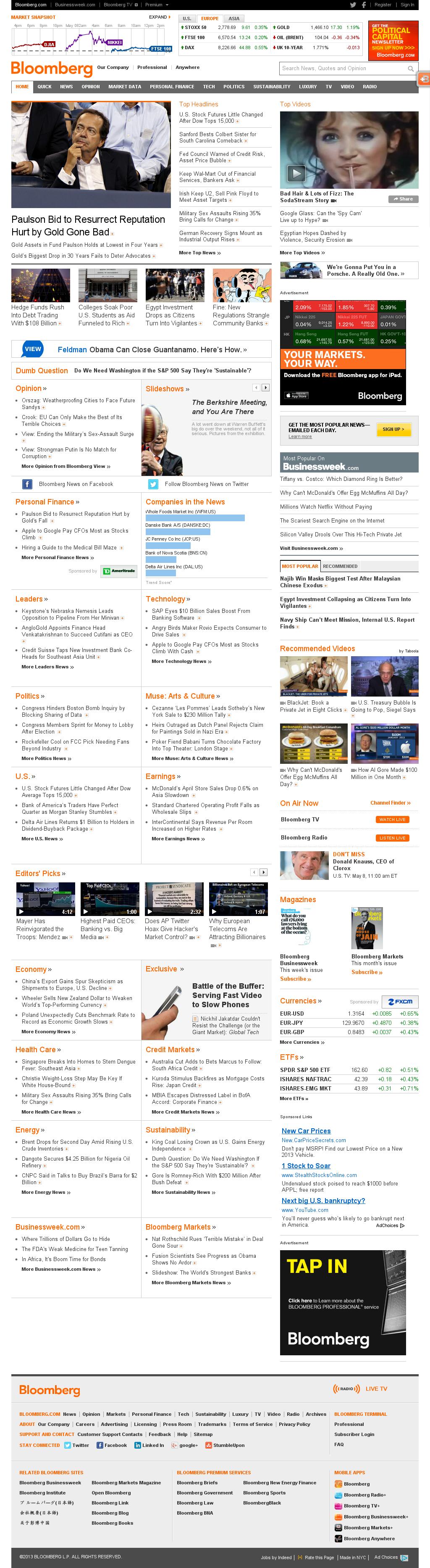 Bloomberg at Wednesday May 8, 2013, 1:02 p.m. UTC