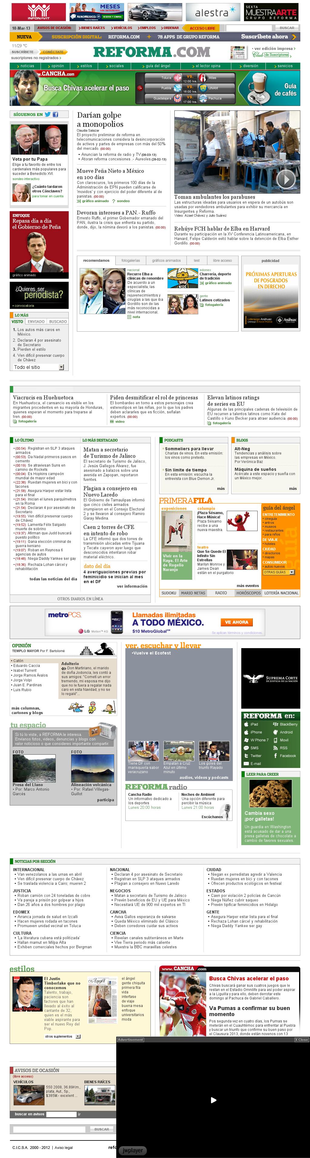 Reforma.com at Sunday March 10, 2013, 11:17 a.m. UTC