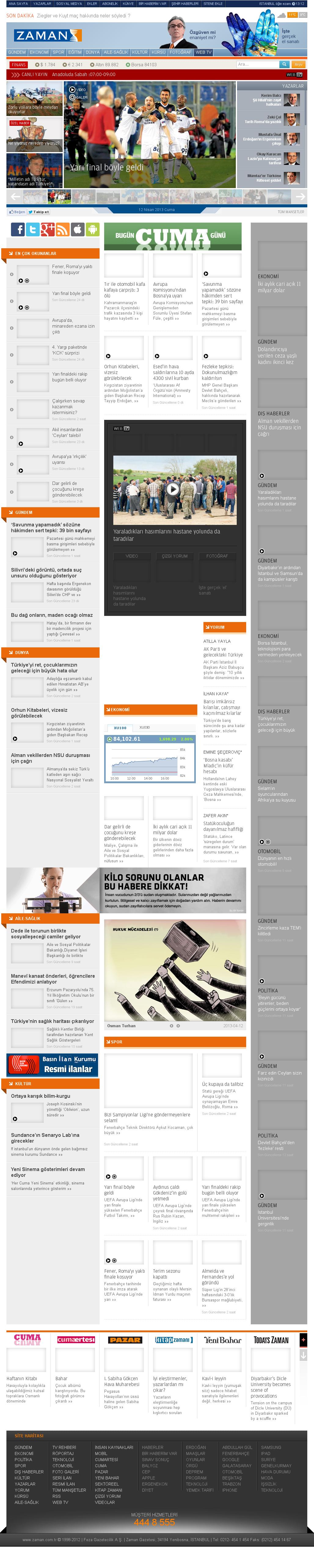 Zaman Online at Friday April 12, 2013, 4:31 a.m. UTC