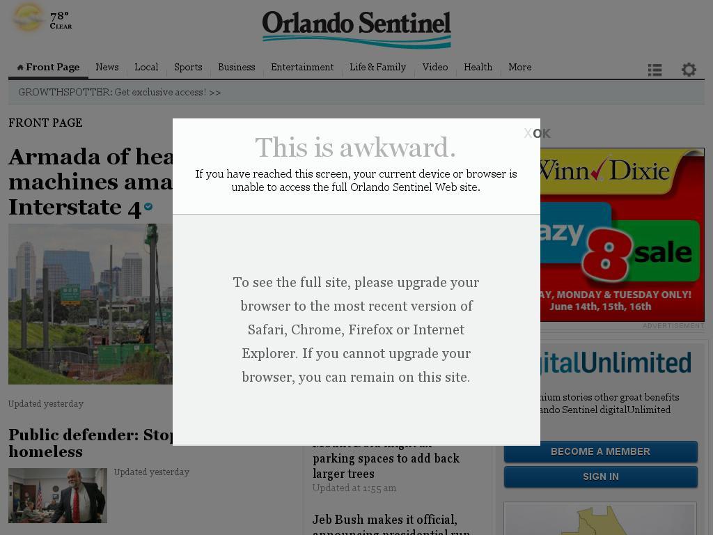 Orlando Sentinel at Tuesday June 16, 2015, 8:15 a.m. UTC