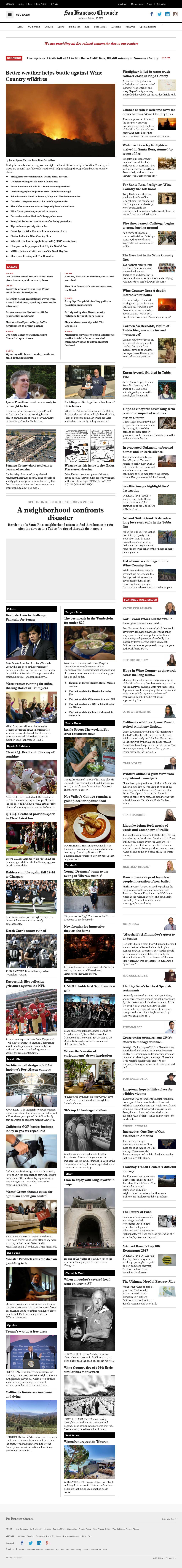 San Francisco Chronicle at Monday Oct. 16, 2017, 9:14 p.m. UTC