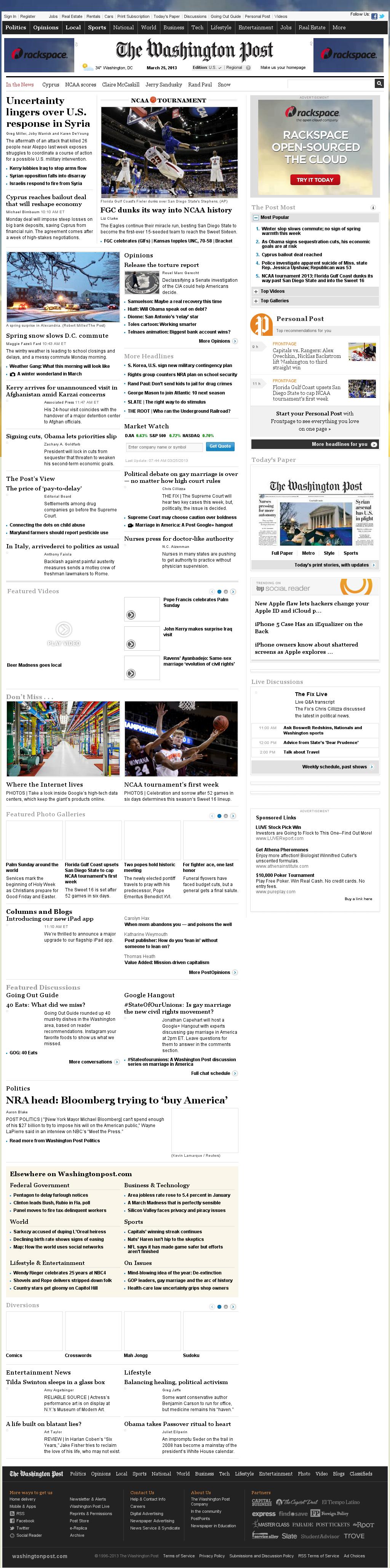 The Washington Post at Monday March 25, 2013, 11:51 a.m. UTC