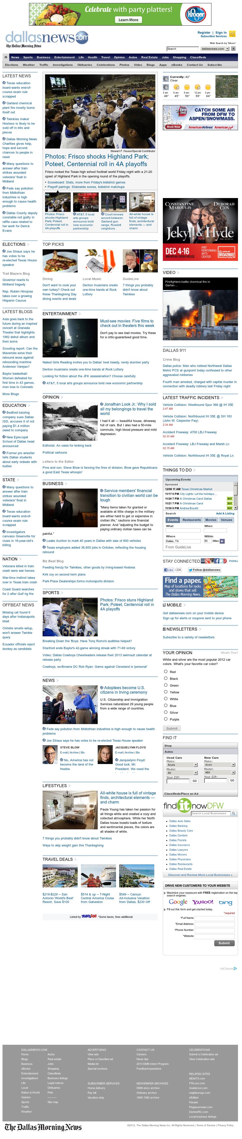 dallasnews.com at Saturday Nov. 17, 2012, 9:06 a.m. UTC