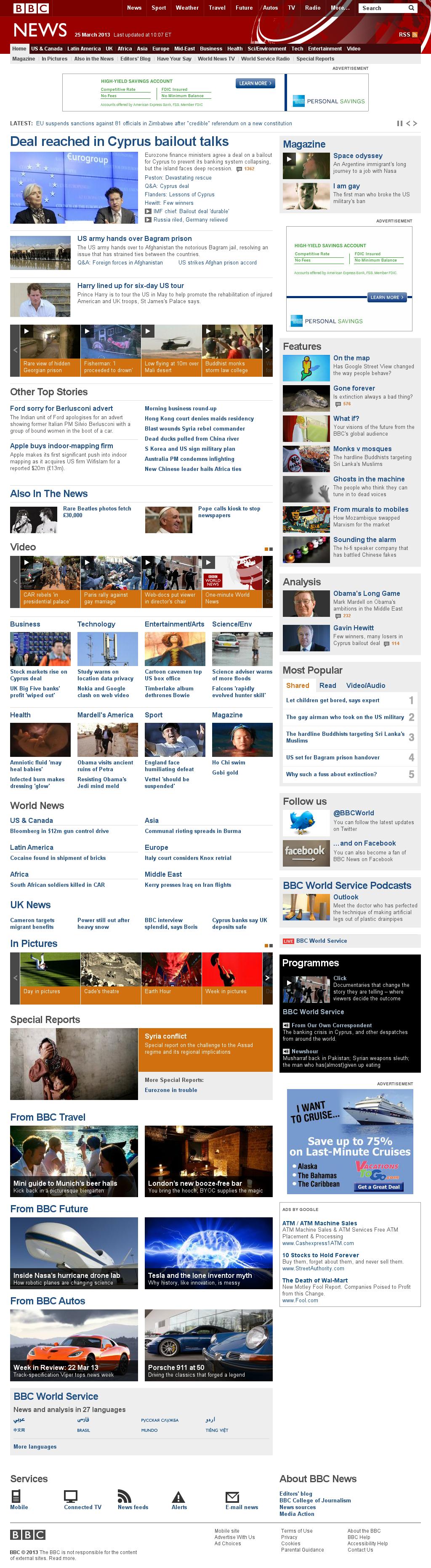 BBC at Monday March 25, 2013, 2:10 p.m. UTC
